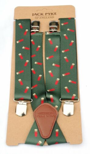 Red Cartridges Braces Green Mens Beaters Shooting Gift