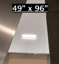 49 X 96 White Aluminum Sheet Flat 030 Thick Cargo Trailer Repair Etc