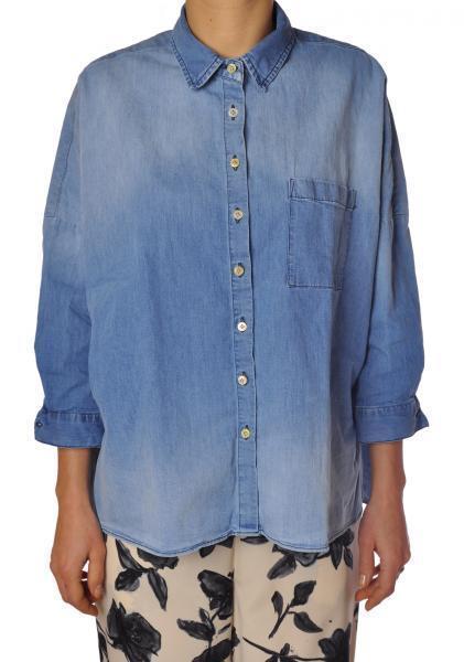 Aglini  -  Shirt - Female - 40 - Denim - 1214013A160303