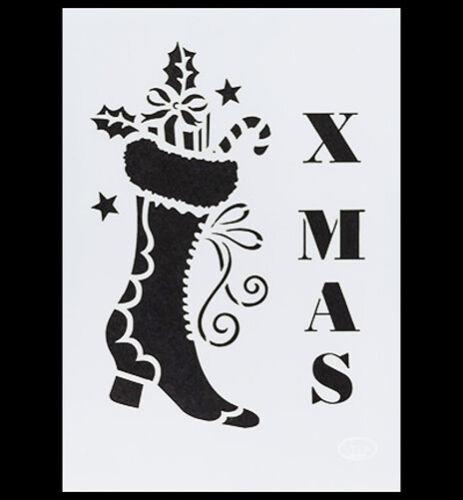 Universal-Schablone Weihnachts Stiefel  von Viva Decor