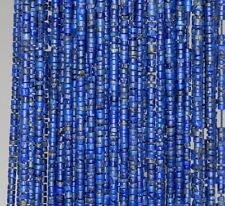"""2.5MM LAPIS LAZULI GEMSTONE BLUE ROUND TUBE HEISHI LOOSE BEADS 14"""""""