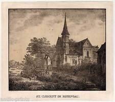 TRECHTINGSHAUSEN-St. Clemens-Rheingau Quaglio Lithographie 1819