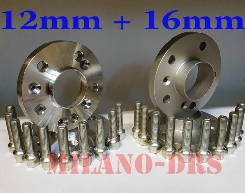 KIT 4 DISTANZIALI RUOTA 12+16mm MERCEDES CLASSE C /'00///'07 Bullone SFERICO W203