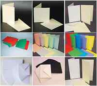 41 Choices of Blank Cards & Envelopes White Ivory Black Pastel & Bright Colours