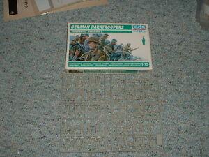 Esci HO 1//72 Box#244 WW2 German Paratroops Green Devils