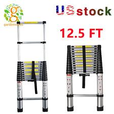 Telescopic Ladder 125ft38m Multi Purpose Aluminum Heavy Duty Extension Step