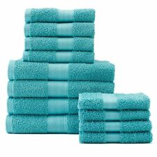 Towel Set NEW The Big One 12 PACK Hand & Bath Towels + Washcloths Light Teal