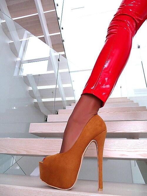 prezzo ragionevole Alta plateau Pumps 2019 Lusso Elegante Scarpe da donna donna donna l40 Open sexy tacco alto 36  garanzia di credito