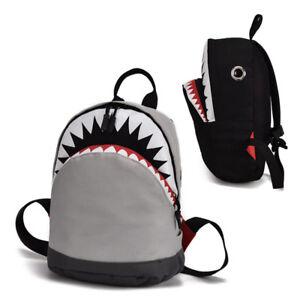 f1693bb93d Kids School Backpack 3D Shark Boys Girls Bag Children Book Backpacks ...