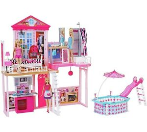 Beautiful Barbie Home Set Includes 3dolls Starter House