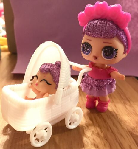 DollHouse Toy Stroller Dolls Big Sis Lil Sister Pets Miniature *NO DOLL* White