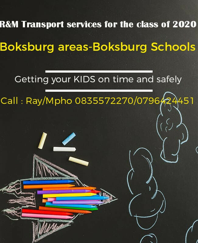 Boksburg Area- Boksburg Schools' School Transport