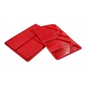 D Line 3d Silicone Gingerbread House Chocolate Mould Set