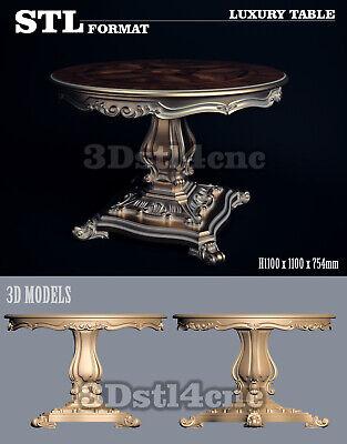 5 3D STL Models Luxury Table 3003 for CNC Router Carving Machine Artcam aspire