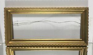 Antique-Victorian-Art-Deco-Art-Nouveau-Wood-Picture-Frame-Fits-7-034-x18-1-4-034