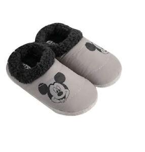 a7bff42a2 La foto se está cargando Disney-Mickey-Mouse-Gris-y-Negro-Zapatillas-De-