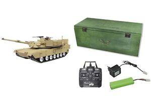RC-Panzer-U-S-M1A2-ABRAMS-R-amp-S-2-4GHZ-Metallketten-Metallgetriebe-QC-23058