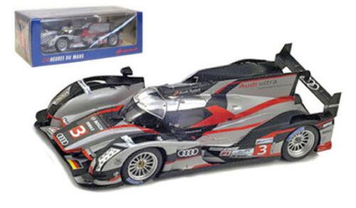 Spark s3702 Audi R18 Ultra # 3 Le Mans 2012-gene//dumas//duval 1//43 Escala