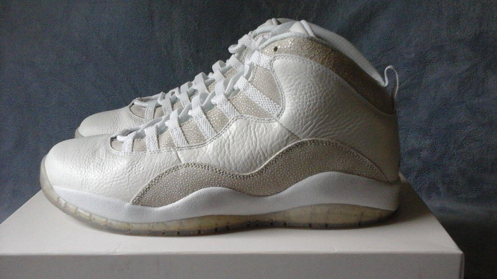 Nike Air Jordan 10 X Retro OVO Drake Summit White 819955-100 Size 11