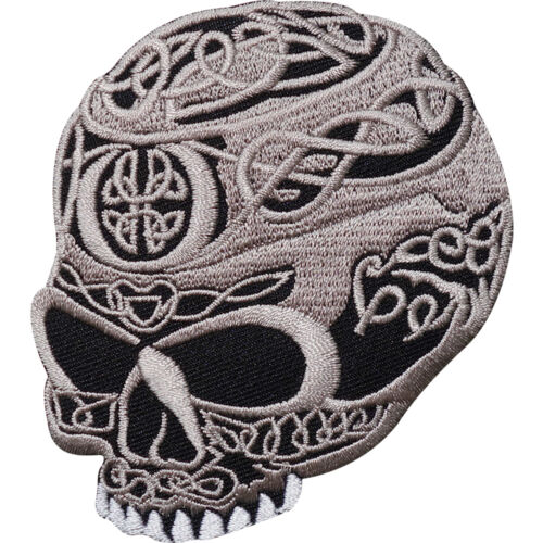 Celtic Cross Skull Embroidered Iron / Sew On Patch Biker Jacket Shirt Bag Badge