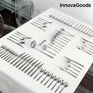 InnovaGoods-IG811600-Cuberteria-De-Acero-Inoxidable-Plateado-Incluye72-cubiertos