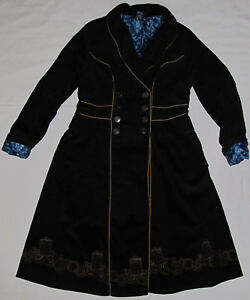 214f49efb82d8 New BBC Dr Who Tardis Corduroy Lined Long Vintage Style Trench Coat ...