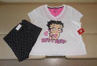 Betty Boop Size Small-medium Womens Pajamas Top/shorts Set Summer Cotton 6-8