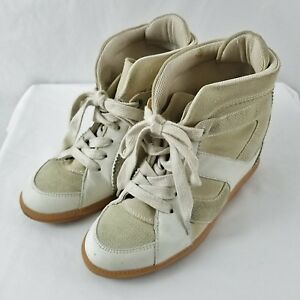 Tan Suede Leather Hi Top Sneakers Shoes
