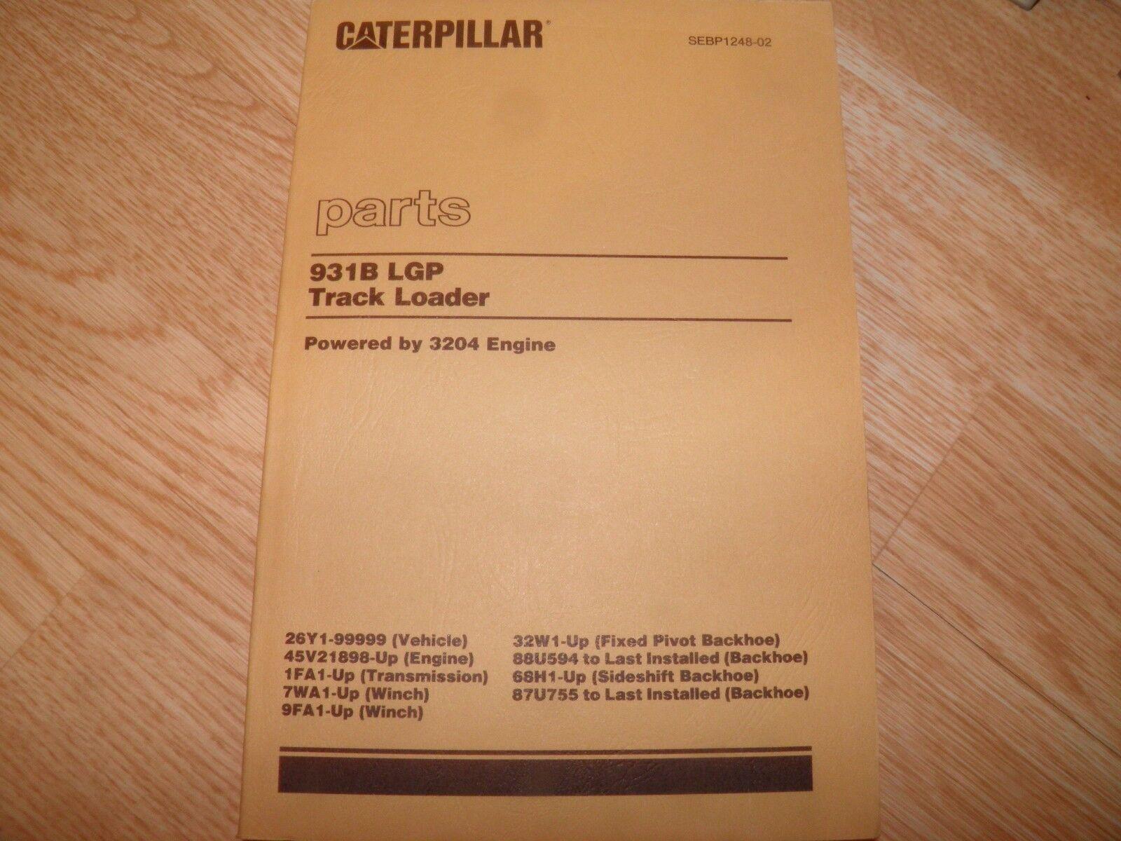 Caterpillar 931B Backhoe Attachment Service Manual S/N 32W1, 68H1 ...