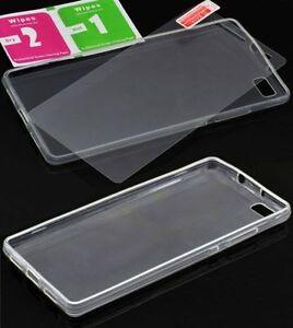 Huawei-P8-Lite-Silicon-Case-Huelle-Handyhuelle-Schutzhuelle-Tasche-9H-Panzerglas