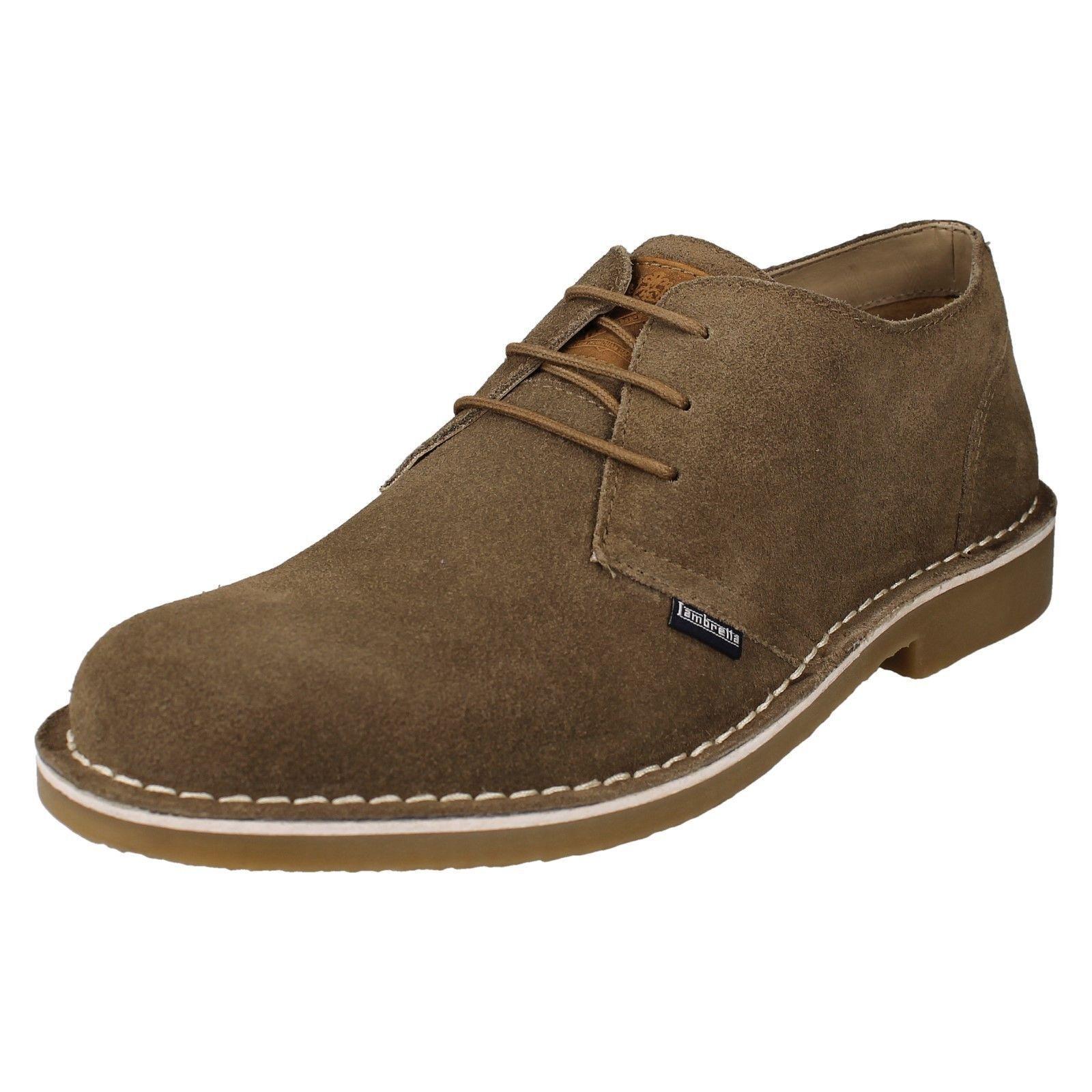 Lambretta ' SOHO ' Hombre shoes elegantes con cordones en Beige Ante