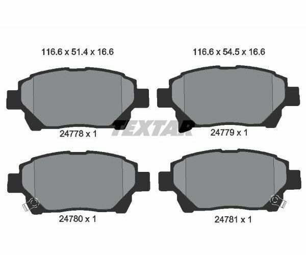 TEXTAR Brake Pad Set, disc brake 2477801