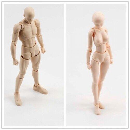Box 2PCS Set Male Female Body-Kun Body-Chan DX SHF Action Figure Grey Color Ver