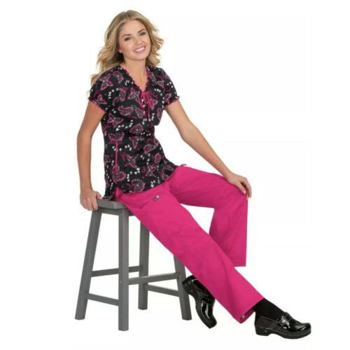 New Women/'s Bridgette Positivity Print Scrub Koi Top 129-PRM-POY Sizes XS-M