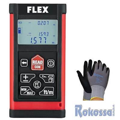 Flex Laser Entfernungsmesser ADM60 - 60 Meter- + 1 Paar Rokossa Nr. 1 Handschuh
