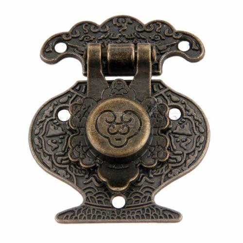 1Pc Antique Bronze Suitcase Locking Buckle Jewelry Gifts Box Hasp Lock Vintage