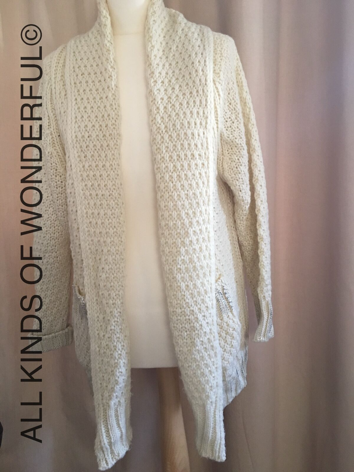 Essentiel Inspirepre Cardigan in Cream RRP  Brand New With Tags