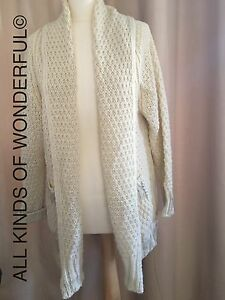 New Rrp In With Essentiel £140 Cardigan Inspirepre Brand Cream Tags qUx0pIw