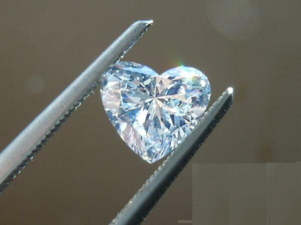 0,26 Carats F Color Vvs2 Clarity Gia Certified Natural Heart Shape Loose Diamond