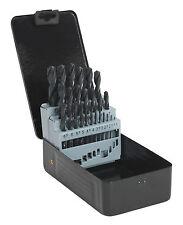 Sealey 25 Piece HSS Twist Metal,Wood,Plastic Drill Bit Set & Case 1-13mm DBS25RF
