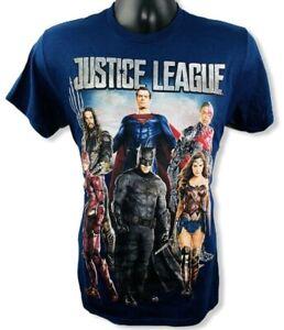 Justice-League-Of-America-Mens-Blue-Short-Sleeve-Shirt