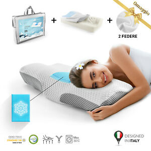 Cuscino Cervicale Memory Foam Alta Qualita 50 Kg M3 Guanciale Letto 2 Federe Ebay