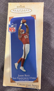 New-Hallmark-Ornament-NFL-49ers-80-Jerry-Rice-Football-Legends-Series-2003