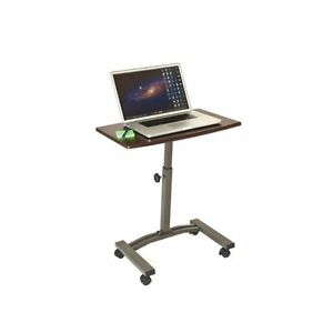 Image Is Loading Movable Laptop Desk Slanted Table Top Rolling Wheels