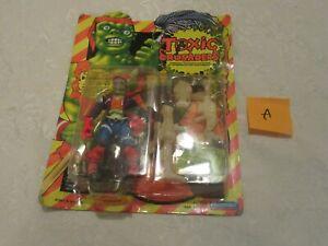Playmates Toxic Crusaders Bonehead # 2007 1991 Aucun autocollant non perforé A