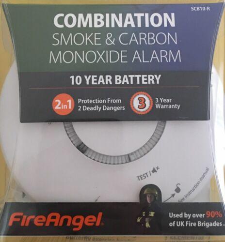 10 ans combinaison optique fumée et CO Alarme Fireangel SCB10-R