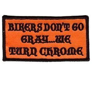 BIKERS-DON-039-T-TURN-GRAY-BUT-CHROME-Motorcycle-MC-Club-Biker-Vest-Patch-PAT-0249
