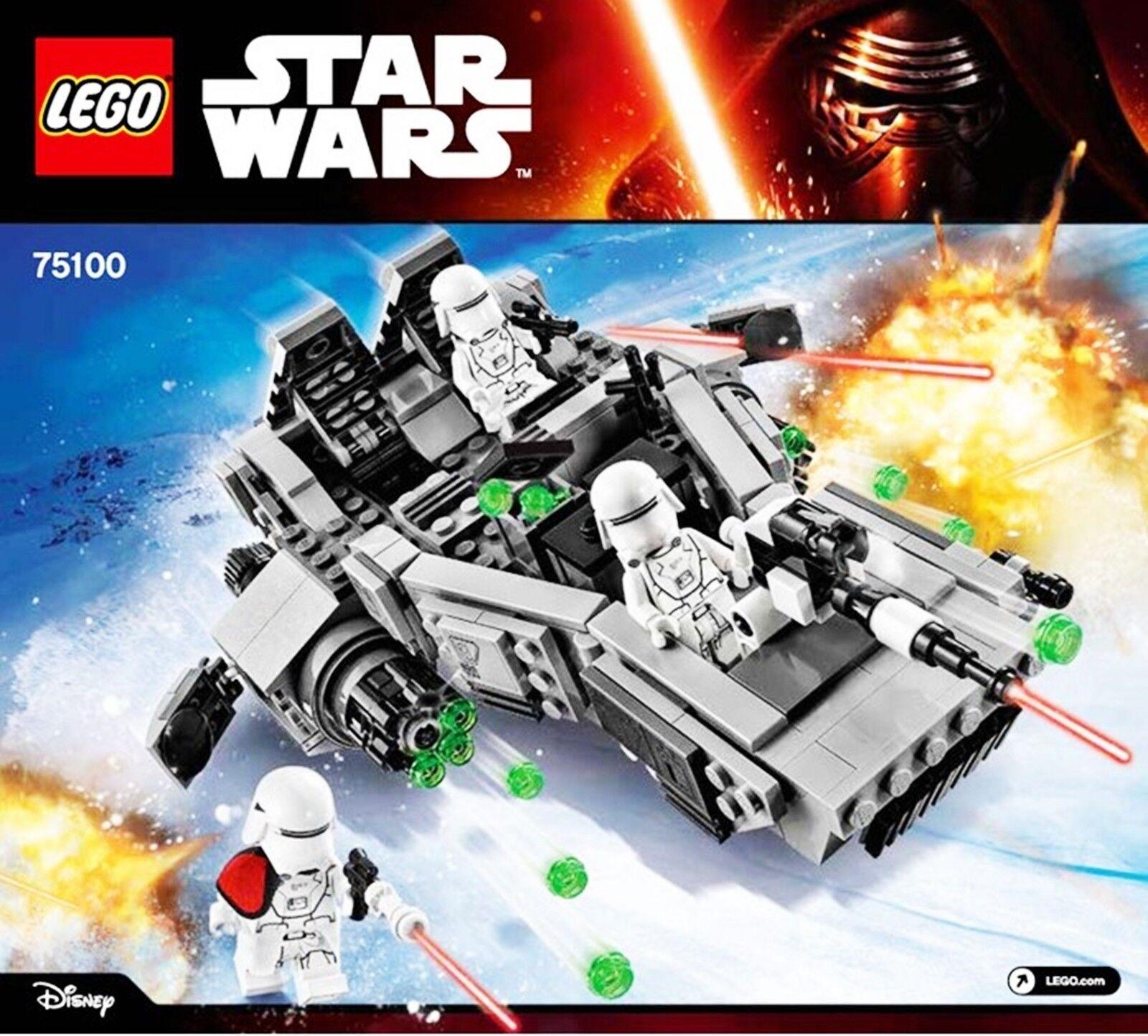 Lego® Lego® Lego® - 75100 - First Order Snowspeeder Star Wars Episode 7 - 3 Minifiguren NEU aedd50