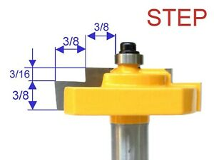 """1 PC 1/2"""" SH Picture Frame Stepped Rabbet Molding Router Bit S"""