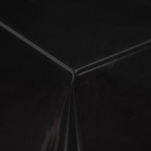Plain Black Pvc Vinyle Table Chiffon Nettoyage matériel Look cuisine salle à manger moderne